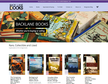 Project Backlane Books e-Commerce